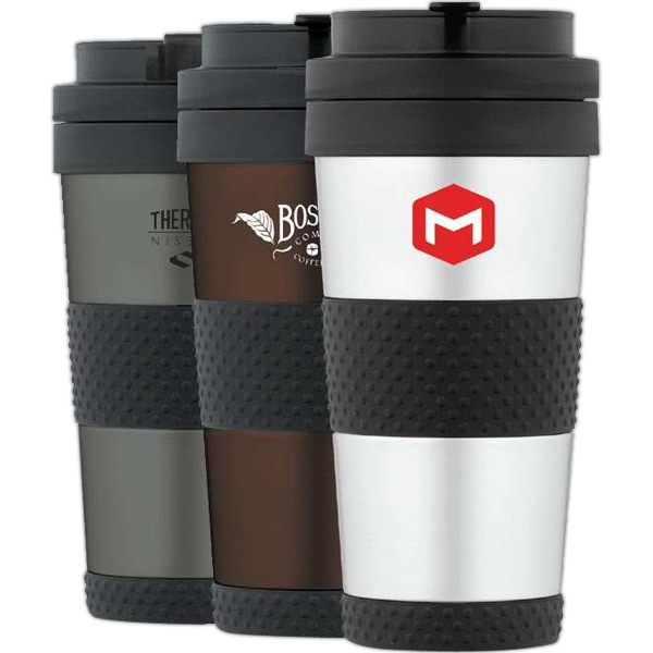Nissan (r) - Charcoal - Travel Tumbler Has Comfortable Silicone Rubber Grip Photo