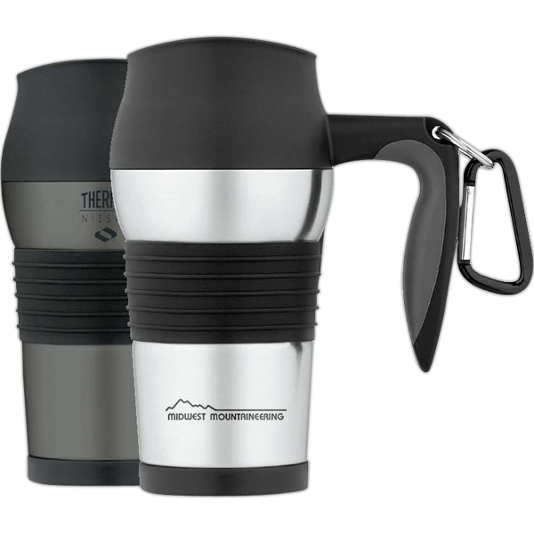 Nissan (r) - Leak-proof 14 Oz./410ml Stainless Steel Travel Mug, Non-slip Scratch-resistant Base Photo