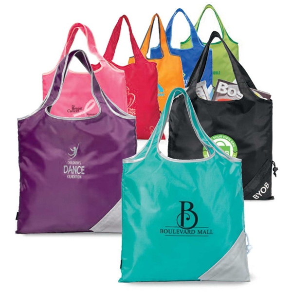 "Latitudes - Turquoise - Foldaway Shopper Bag With 18"" Shoulder Straps Photo"