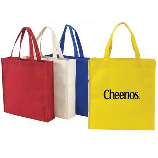 "Embroidery - Small Non-woven Tote Bag Made Of 90 Gram Non-woven Polypropylene, 16"" Handles Photo"