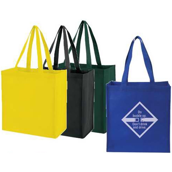 "Embroidery - Medium Non-woven Tote Bag With 25"" Handles Photo"