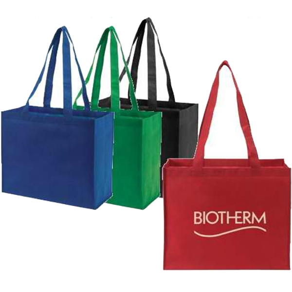"Embroidery - Non-woven 18"" Tote Bag, 32"" Shoulder Length Straps Photo"