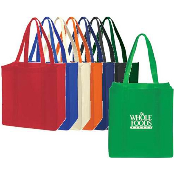 "Extra-wide Non-woven Tote Bag With Bottom Stiffener, 22"" Handles Photo"