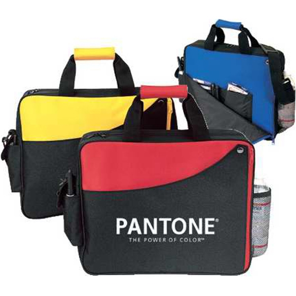 Silkscreen - Executive Portfolio Bag With Exterior Cell Phone Pocket And Mesh Bottle Holder Photo