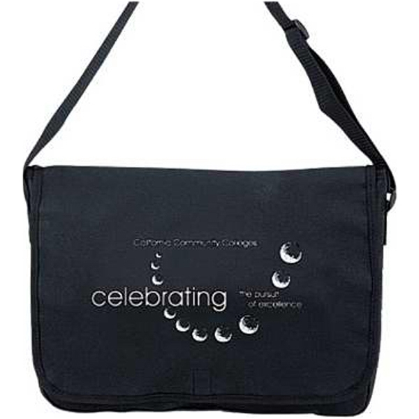 Embroidery - Polyester Messenger Bag With Velcro (r) Closure And Adjustable Shoulder Strap Photo