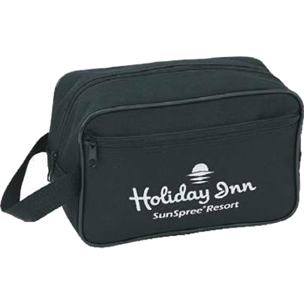 Silkscreen - Travel Kit With Vinyl Backing, Zippered Main Compartment And Front Pocket Photo