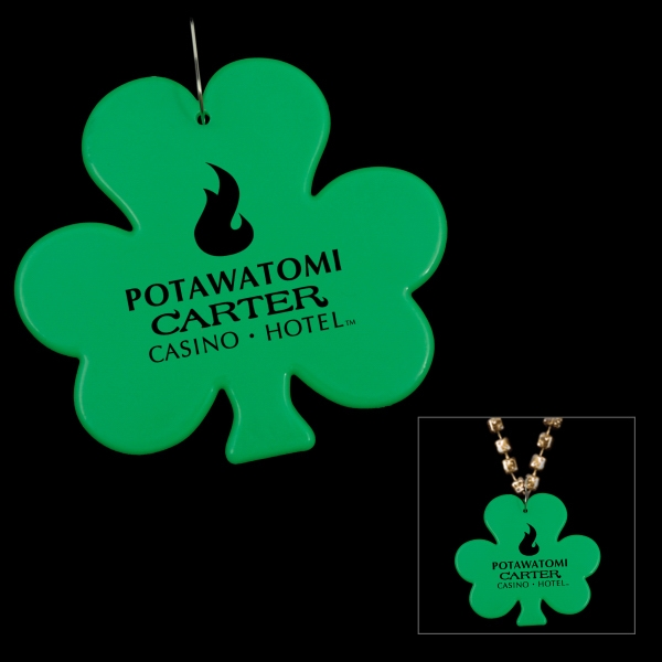 Cheap Logoed Green Shamrock Medallions (non Light-up Item), 5 Day Production Photo
