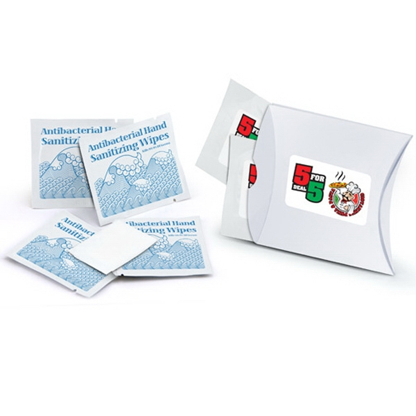 Sanitary Wet Wipe 4 Pack With Stock Artwork Photo
