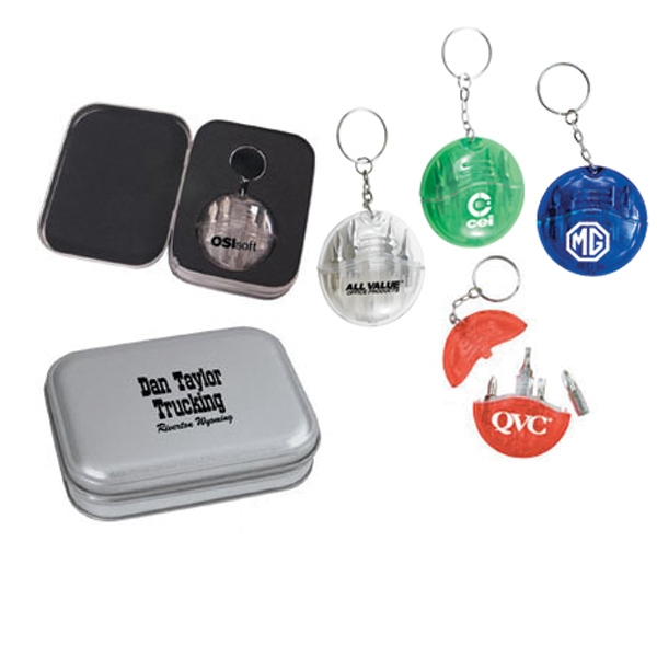 Mini Pocket Tool Kit With Key Chain And 4 Interchangeable Bits Photo
