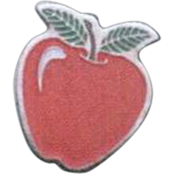 Apple - Novelty Pin With Clutch Back Photo