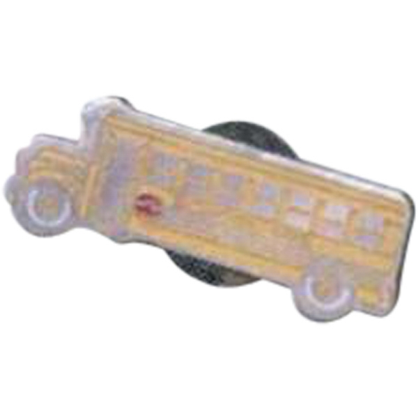 Bus - Novelty Pin With Clutch Back Photo