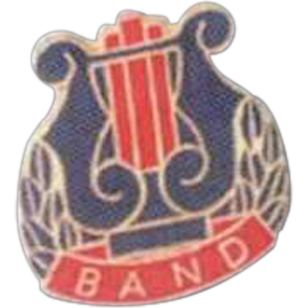 Band - Music Pin With Clutch Back Photo
