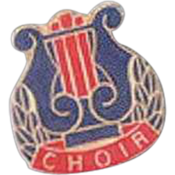 Choir - Music Pin With Clutch Back Photo