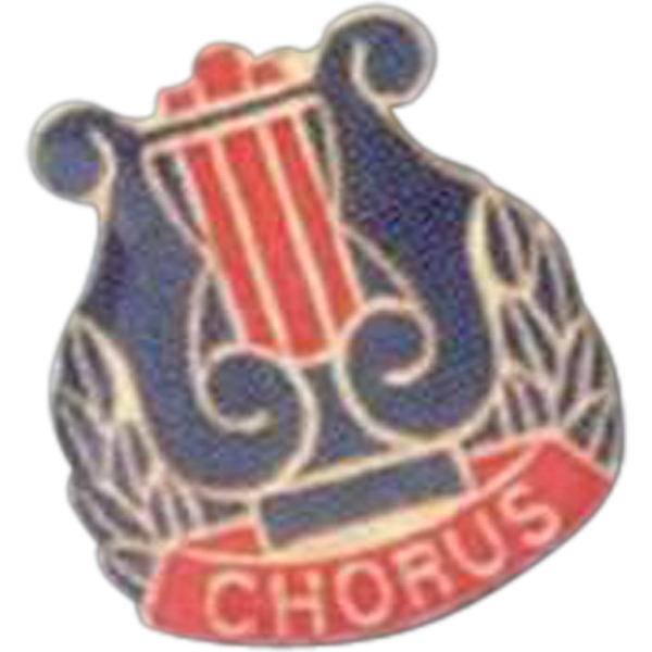 Chorus - Music Pin With Clutch Back Photo
