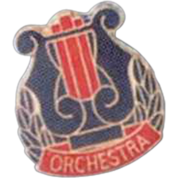 Orchestra - Music Pin With Clutch Back Photo