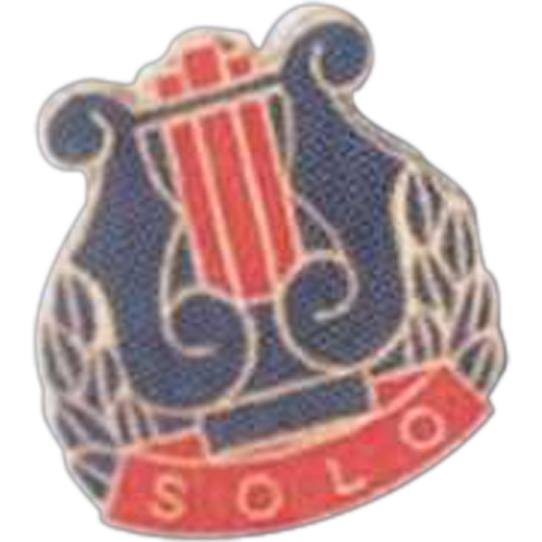 Solo - Music Pin With Clutch Back Photo