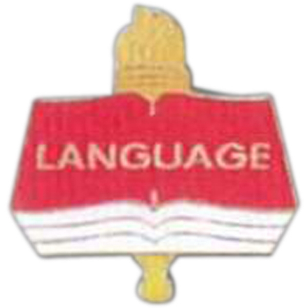 Language - Scholastic Recognition Pin With Clutch Back Photo