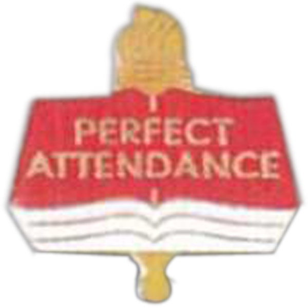 Perfect Attendance - Scholastic Recognition Pin With Clutch Back Photo