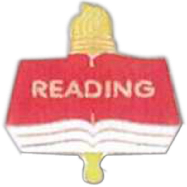 Reading - Scholastic Recognition Pin With Clutch Back Photo
