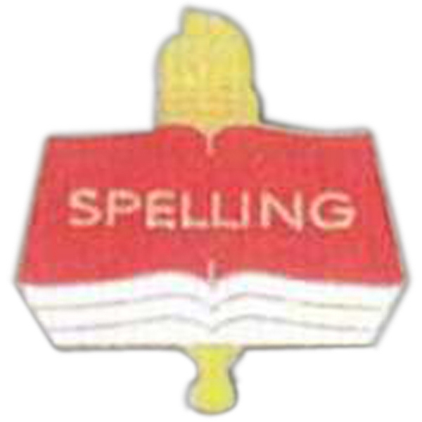 Spelling - Scholastic Recognition Pin With Clutch Back Photo