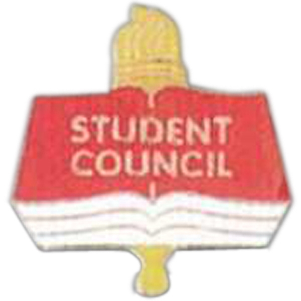 Student Council - Scholastic Recognition Pin With Clutch Back Photo