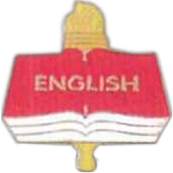 English - Scholastic Recognition Pin With Clutch Back Photo