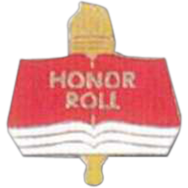 Honor Roll - Scholastic Recognition Pin With Clutch Back Photo