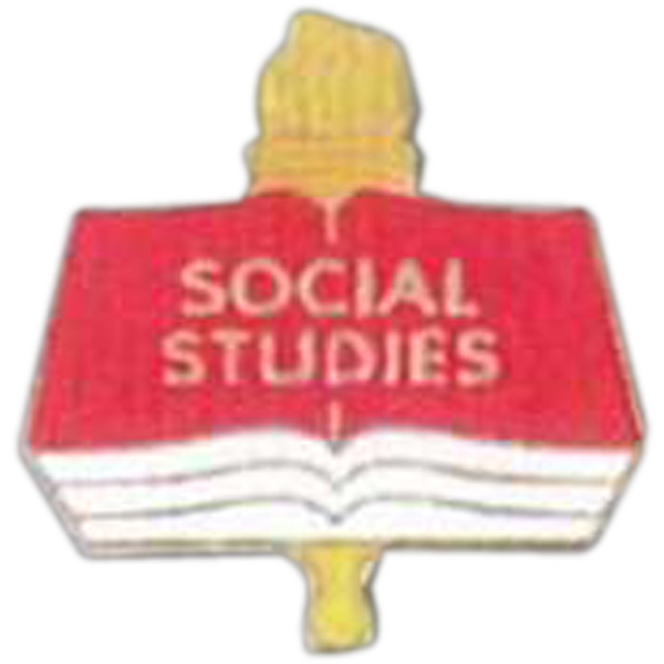 Social Studies - Scholastic Recognition Pin With Clutch Back Photo