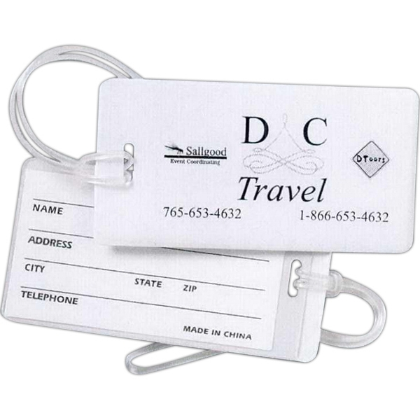 Budget Luggage Tag With Strap Attached Photo