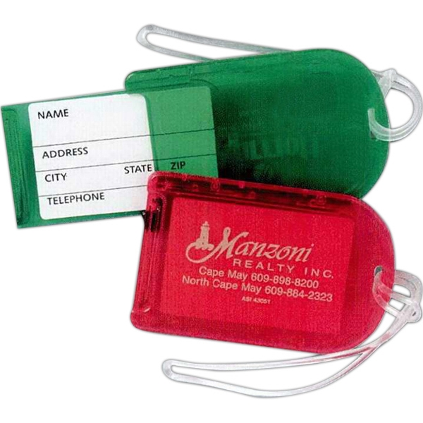 Snap Luggage Tag With Strap Attached Photo