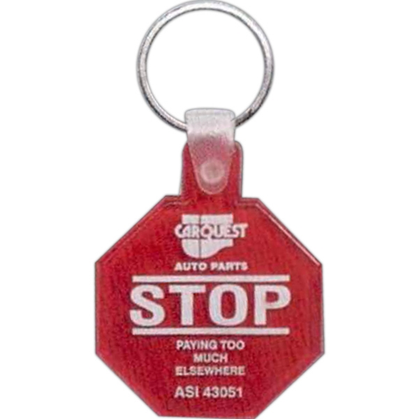 Stop Sign - Soft Squeeze Key Tag Photo