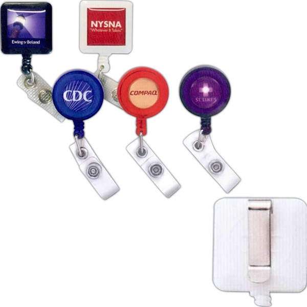 Retractable Badge Holder With Slide Belt Clip Photo