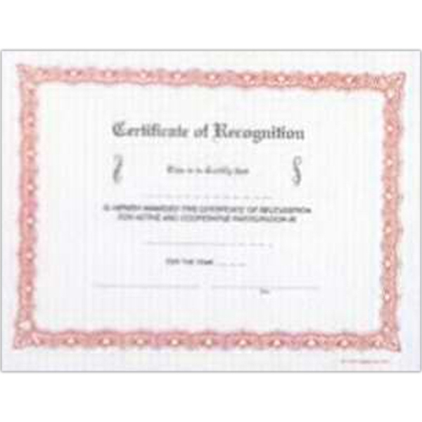 Certificate Of Recognition - Stock Recognition Certificate With Colorful Designed Borders Photo