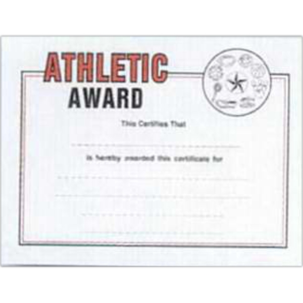 "Athletic - Stock Certificates With A Sports Theme. 8 1/2"" X 11"" Photo"
