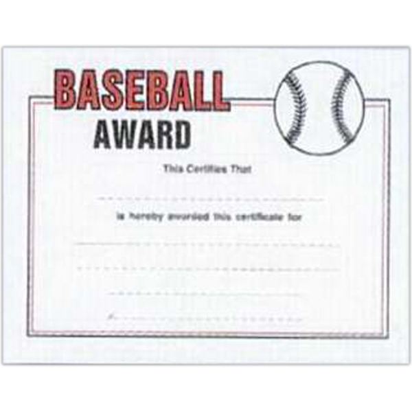 "Baseball - Stock Certificates With A Sports Theme. 8 1/2"" X 11"" Photo"