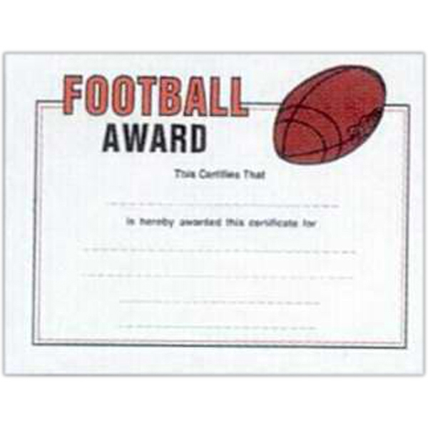 "Football - Stock Certificates With A Sports Theme. 8 1/2"" X 11"" Photo"