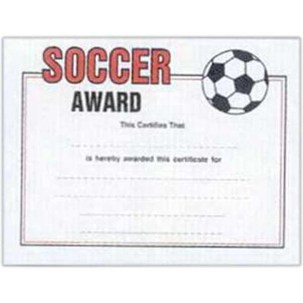 "Soccer - Stock Certificates With A Sports Theme. 8 1/2"" X 11"" Photo"