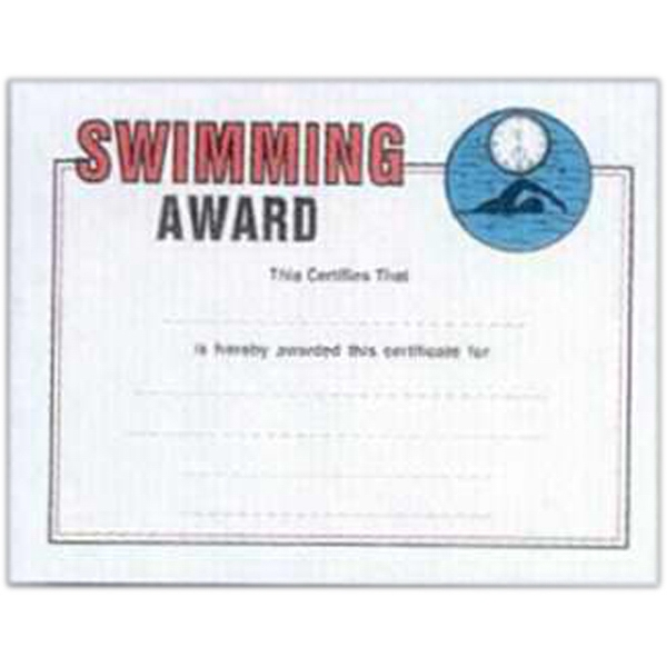 "Swimmer - Stock Certificates With A Sports Theme. 8 1/2"" X 11"" Photo"