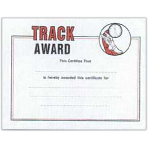 "Track - Stock Certificates With A Sports Theme. 8 1/2"" X 11"" Photo"
