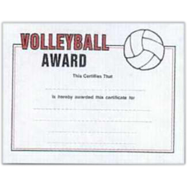 "Volleyball - Stock Certificates With A Sports Theme. 8 1/2"" X 11"" Photo"