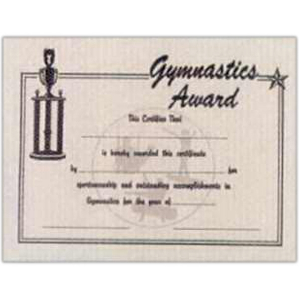 Gymnastics - Stock Recognition Certificate Photo