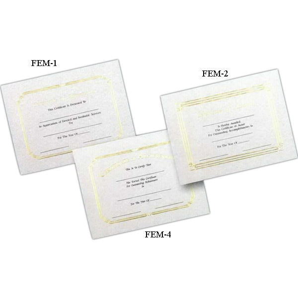 "Achievement - Stock Certificate With Foil Embossed Border And Heading, 8 1/2"" X 11 Photo"