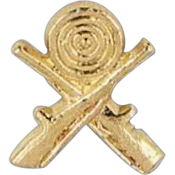 Crossed Rifles - Stock Design Award Pin With Clutch Back Attachment For Secure Mounting Photo