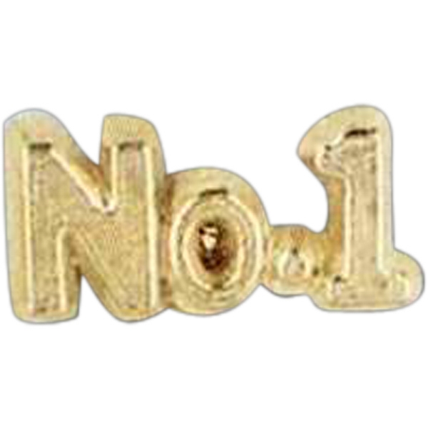 """no.1"" - Stock Design Award Pin With Clutch Back Attachment For Secure Mounting Photo"