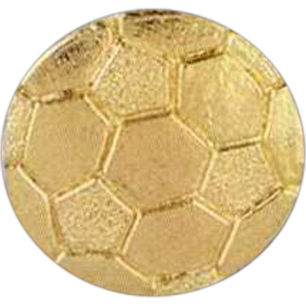 Soccer - Stock Design Award Pin With Clutch Back Attachment For Secure Mounting Photo