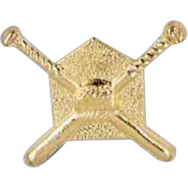 Crossed Bats - Stock Design Award Pin With Clutch Back Attachment For Secure Mounting Photo