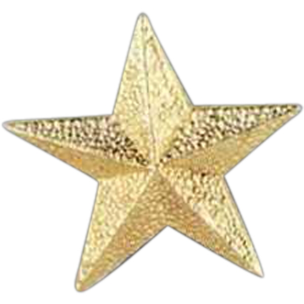 Star - Stock Design Award Pin With Clutch Back Attachment For Secure Mounting Photo