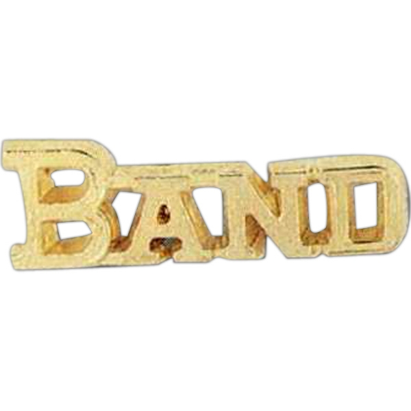 """band"" - Stock Design Award Pin With Clutch Back Attachment For Secure Mounting Photo"