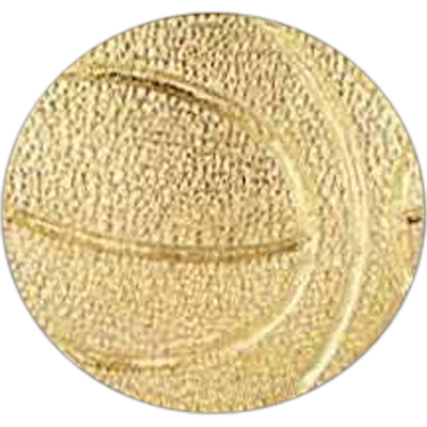 Basketball - Stock Design Award Pin With Clutch Back Attachment For Secure Mounting Photo