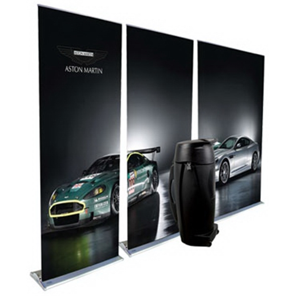 3 Pack Supreme Banner Stands 850 - 3 Pack Supreme Banner Stands 850 - Features replaceable graphic cartridge.